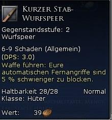 Kurzer Stab-Wurfspeer