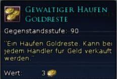 Gewaltiger Haufen Goldreste