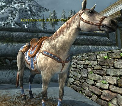 Glitzerndes Julfest-Pony