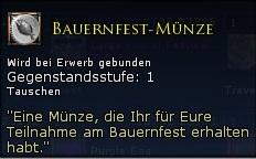 Bauernfest-Münze