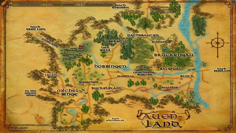 Auenlandkarte