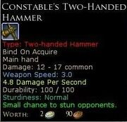 ConstablesTwoHandedHammer