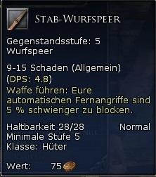 Stab Wurfspeer