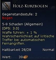 Holz Kurzbogen