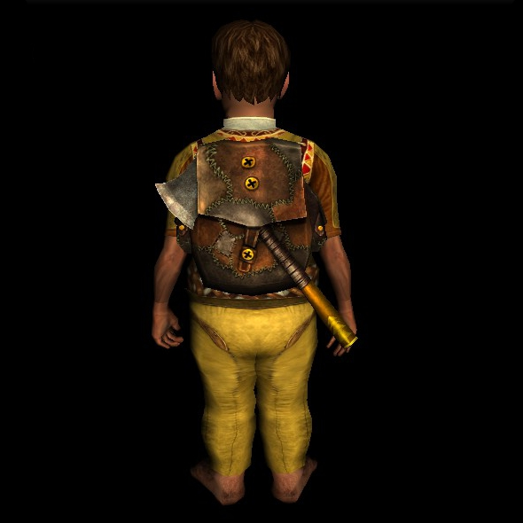 Patched Woodcutter's Pack hobbit
