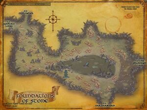 Foundations of stone map