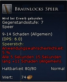 Braunlocks Speer