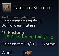 Breiter Schild