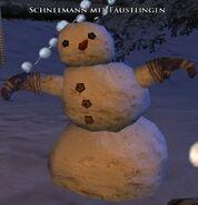 Schneemann mit Fäustlingen