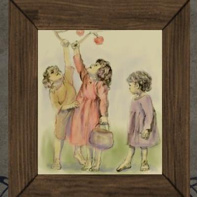 'Playful Children' Painting00