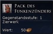 Pack des Funkenzünders