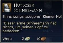 Hutloser Schneemann Tooltipp