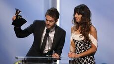 Zedd and Foxes at the 56th Grammy Awards (2)