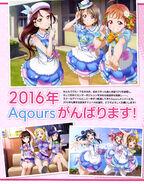Dengeki G's Magazine Feb 2016 Aqours New Year Message 1
