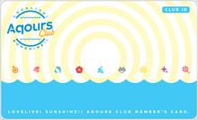 Aqours CLUB Membership Card