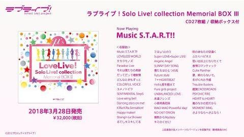 Love Live! Solo Live! collection Memorial BOX Ⅲ PV