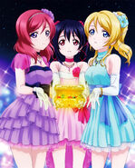 Maki Nico Eli Love Live BD Animate Bonus Illustration