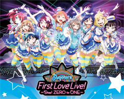 Aqours First Love Live! ~Step! ZERO to ONE~ BD BOX Cover
