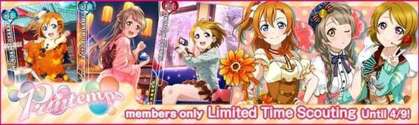 (4-7) Printemps Limited Scouting