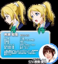 Ayase Eli Character Profile