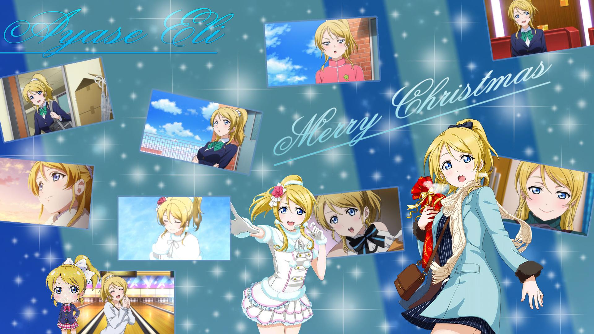 Image - Ayase Eli Christmas Wallpaper.jpg   Love Live! Wiki   FANDOM ...