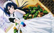 Umi Cure Maid Cafe Image Girl Illustration