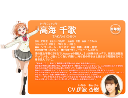 Sunshine!! character intro - Takami Chika