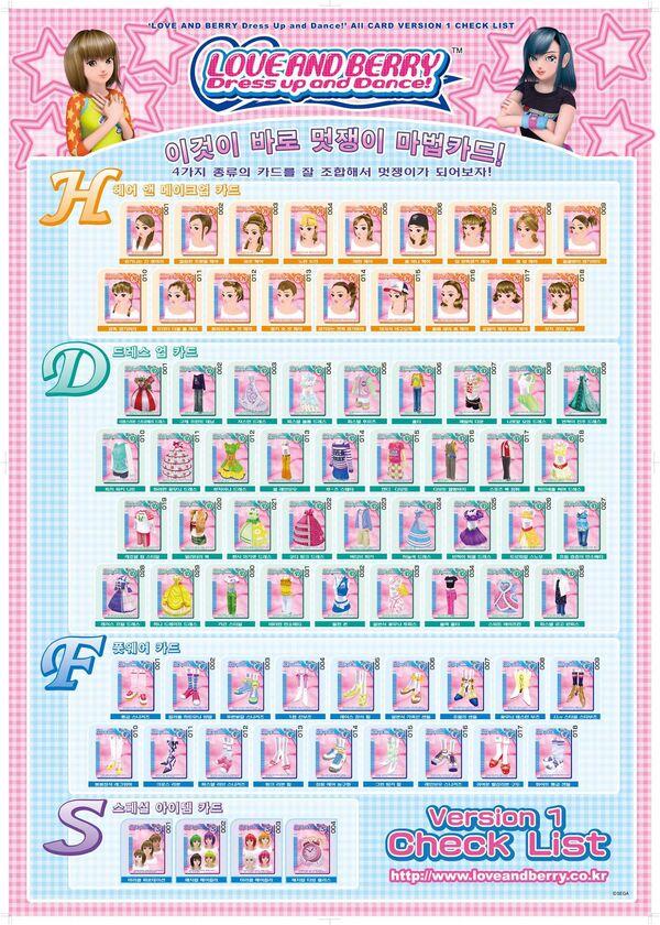 Version 1 Korean Checklist