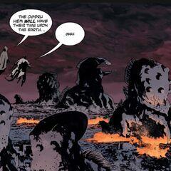 The Ogdru Hem conquering Earth