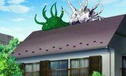 Dos shoggoths en el tejado