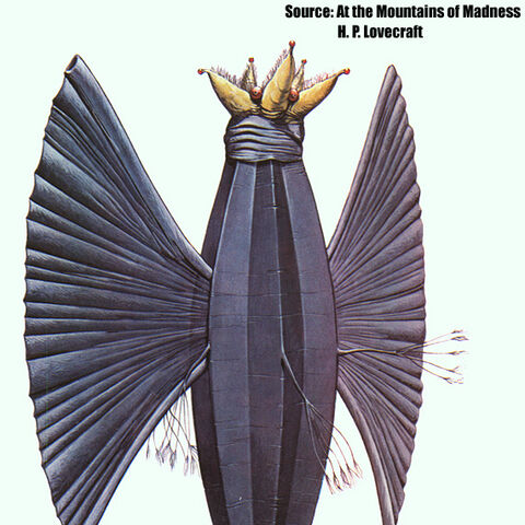 Wayne Douglas Barlowe's rendition of an Elder Thing (Old One) in his book <i>Barlowe's Guide to Extraterrestrials.</i>