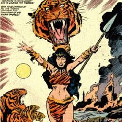 Iraina (Kull's cursed sister, were-tiger)