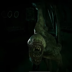 Shambler, pulling player out of a locker/ in the call of cuthulu videogame