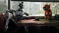 Drei Roboter