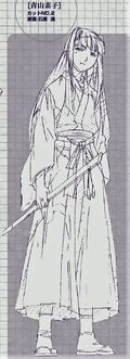 Motoko Aoyama Fullbody scetch