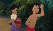 Mowgli is telling Shanti that danger in near