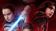 Kylo and Rey the last jedi poster