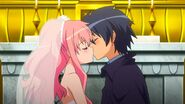 Louise & Saito Wedding Kiss S4E12