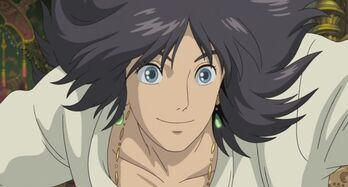 Howl with black hair