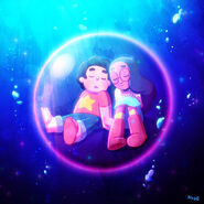Steven Universe Steven and Connie Maehsewarn loveness in a bubble