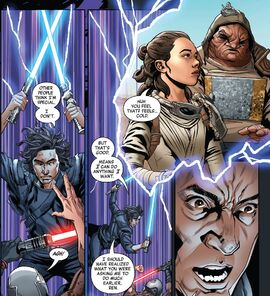 Rey and Kylo - Rise of Kylo Ren comic