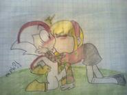 Kick Buttowski and Kendall Perkins kissing fan art drawing 0782181211280