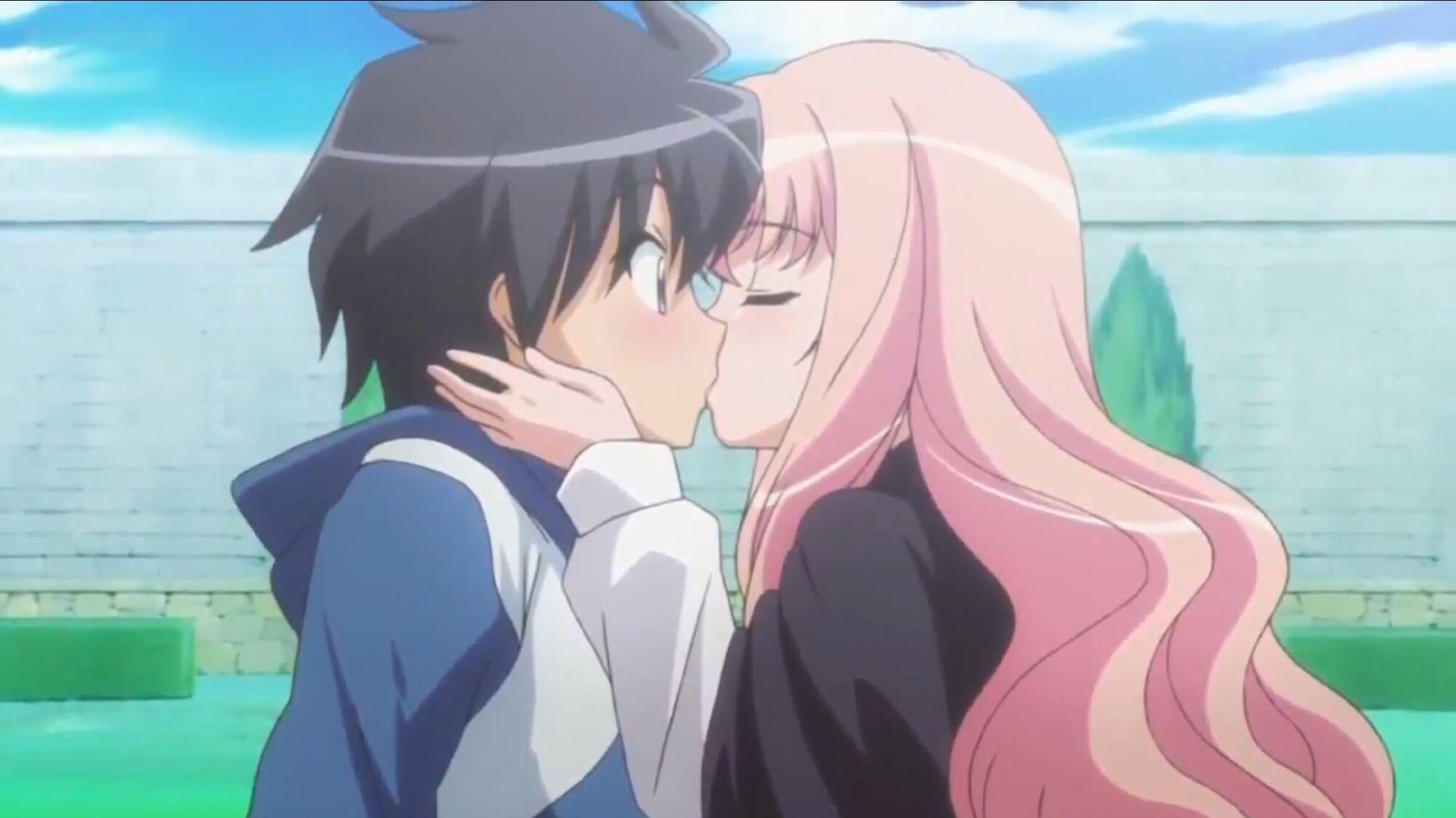 Anime Couple Kissing Base