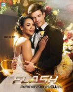 Barry and Iris Wedding - Crisis on Earth-X Poster