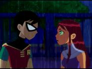 Teen Titans Robin and Starfire In the Rain