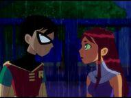 Teen Titans Robin and Starfire In the Rain