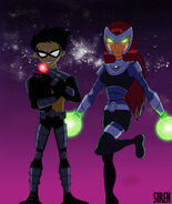 Teen Titans Robin and Starfire 838361191500