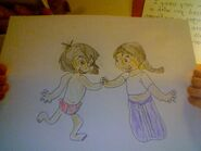 Mowgli and Shanti danceing in color