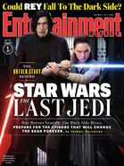 Star Wars The Last Jedi Kylo Ren andRey Entertainment Weekly Cover