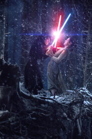 Kylo and Rey the force awakens